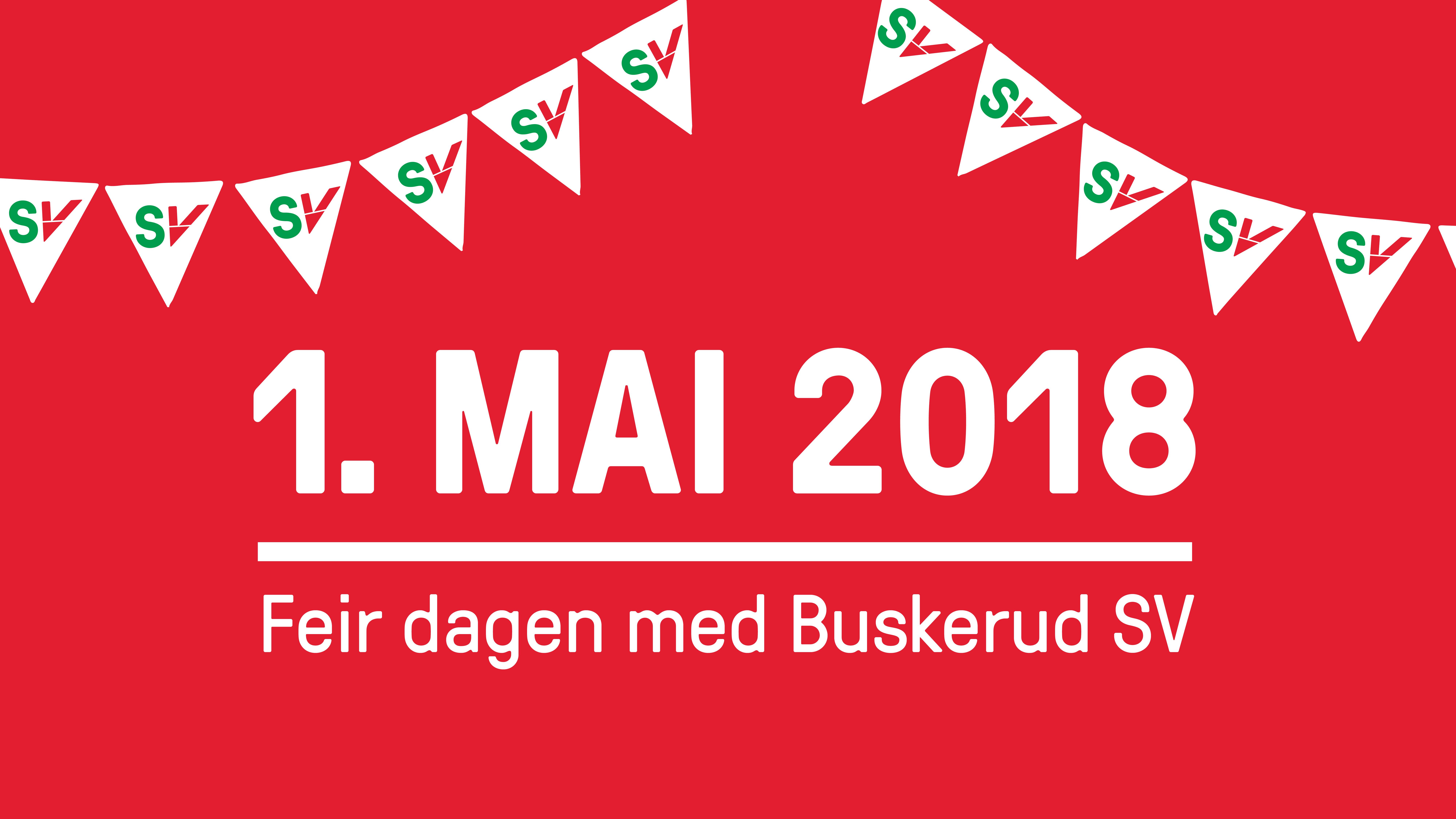 Feir 1. mai med Buskerud SV