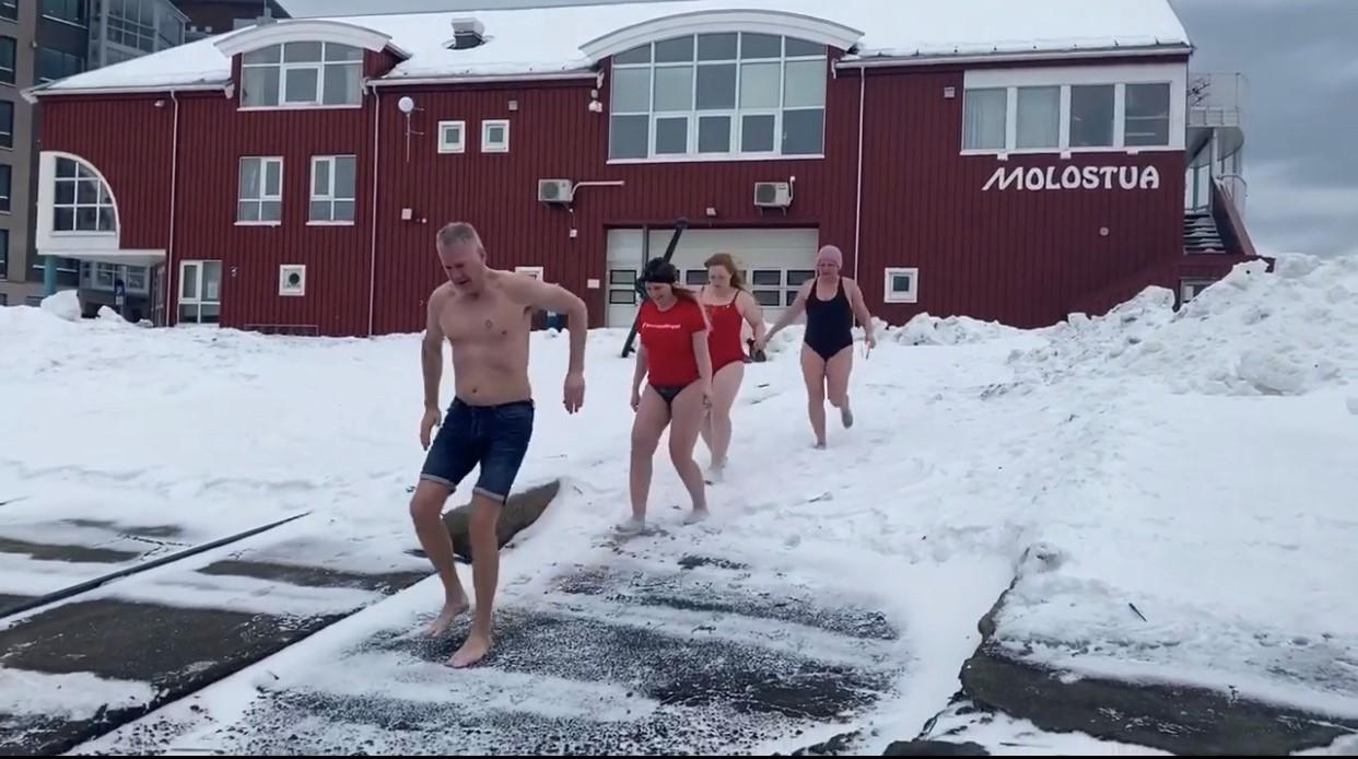 Isbadet mot klimaendringer