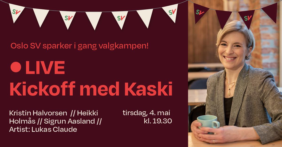 Livesending: Kickoff med Kaski