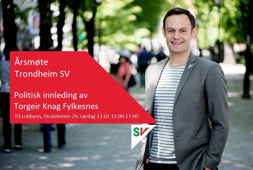 Årsmøtepapirer Trondheim SV – Lørdag 12.01.2019