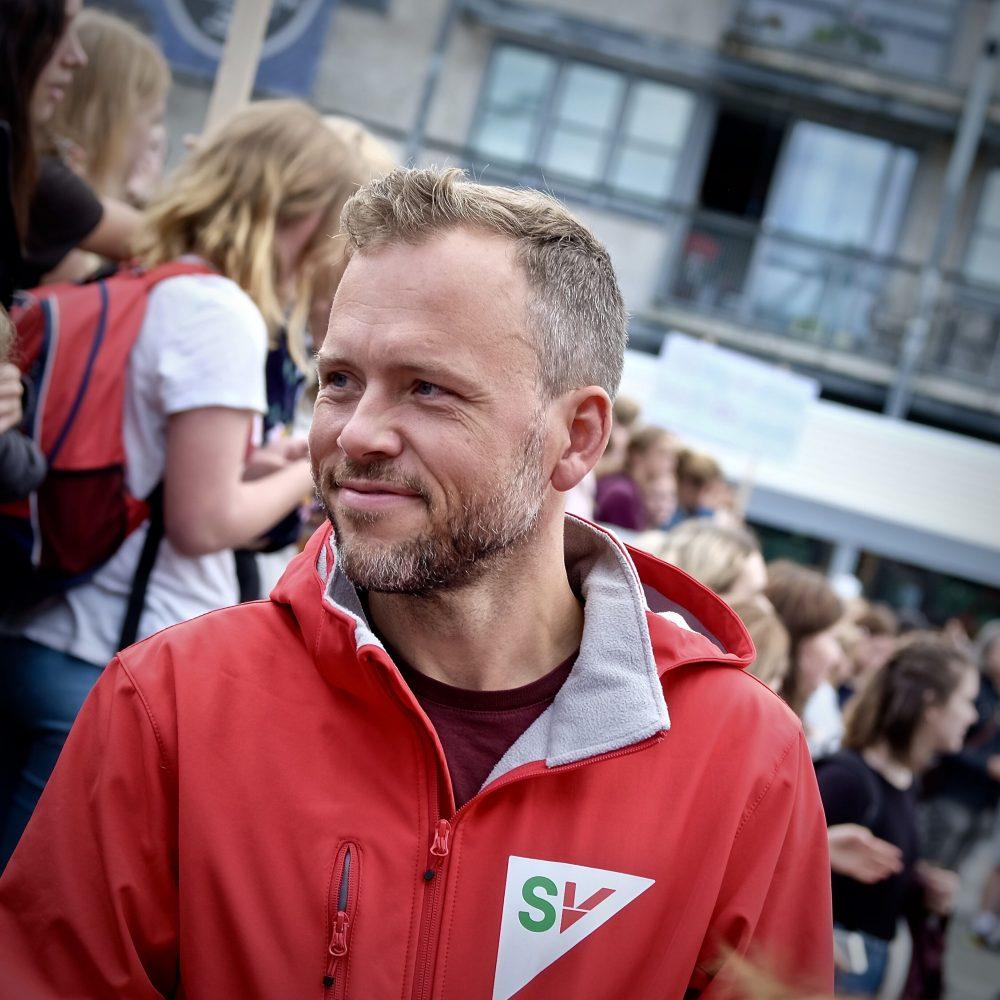 Audun Lysbakken holder innledning på Trondheim SVs årsmøte 30.01.