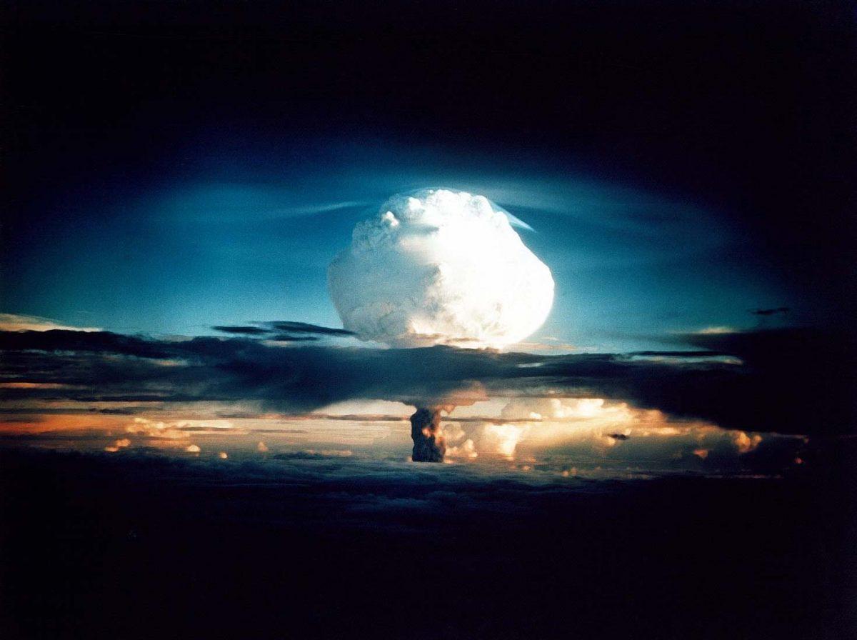 Sprengning av atombombe. Foto