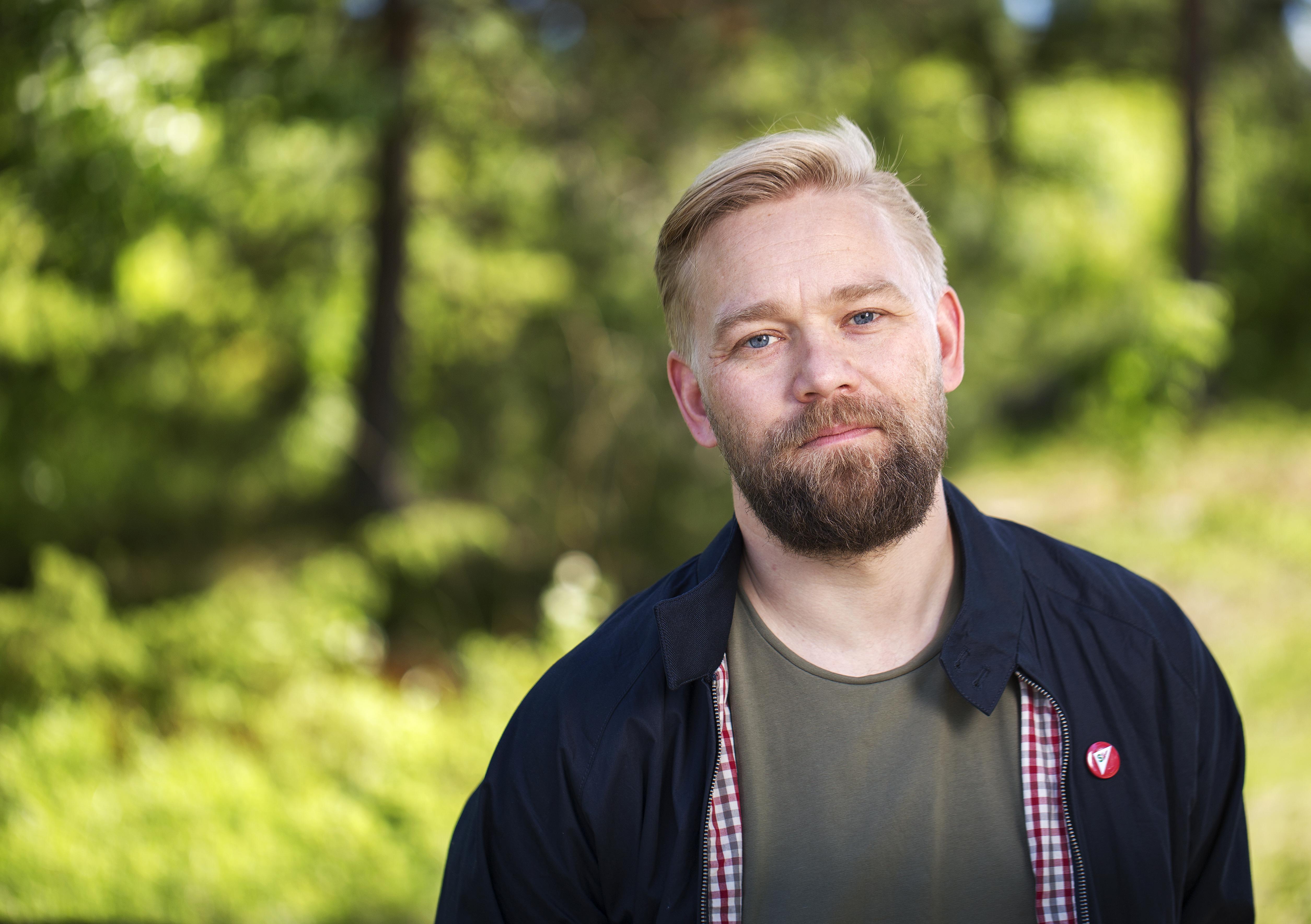 Fotografo av partisekretær Audun Herning