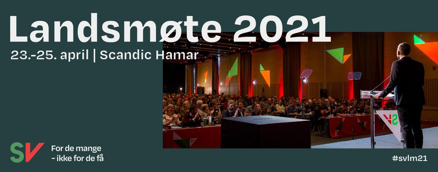 Landsmøte 2021 23-25 april Scandig Hamar. Grafikk over foto